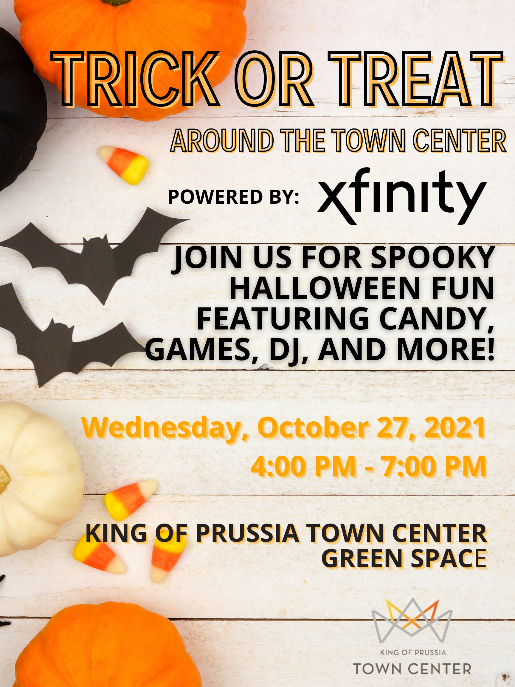 Trick or Treat around the Town Center at King of Prussia Town Center.